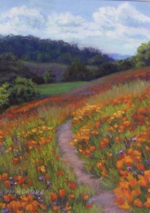 "Pastel painting ""Diablo Poppies"" by Debbie Wardrope"